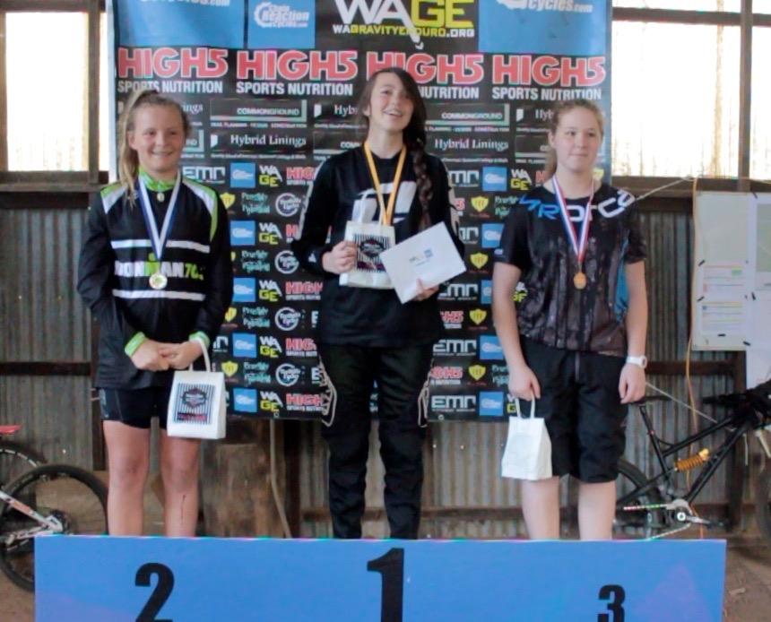 Female U15 winners