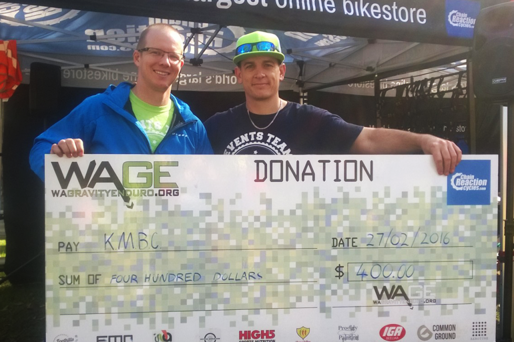 We love donating back to the local trails!